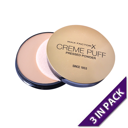 Max Factor Compact Powder Creme Puff 41 Medium Beige (3 in pack)